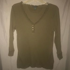 Ralph Lauren Jeans Co. Olive stretchy top